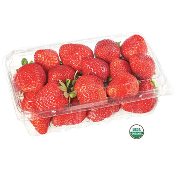 Fresh Organic Strawberries, 1 lb