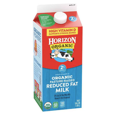 Horizon Organic 2% Reduced-Fat Milk, Half Gallon