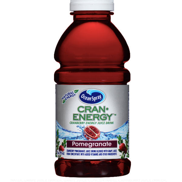 Ocean Spray Cran Energy Pomegranate Juice, 10 Fl Oz, 6 Count - Water Butlers