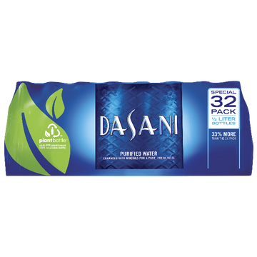 Dasani Purified Water, 16.9oz bottles, 32 Ct