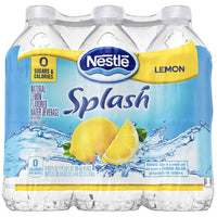 Nestle Splash Lemon Flavored Water, 16.9 Fl. Oz. 6 Ct - Water Butlers