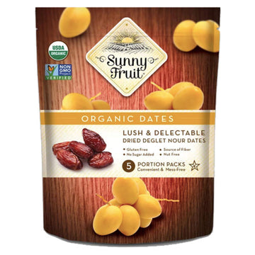 Sunny Fruit Organic Dried Pitted Dates, 8.8 oz