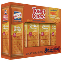 Lance ToastChee Cheddar Sandwich Crackers, 8 Ct - Water Butlers