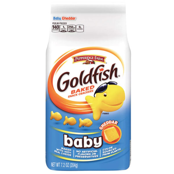 Pepperidge Farm Goldfish Baby Cheddar Crackers, 7.2 oz. - Water Butlers