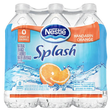Nestle Splash Mandarin Orange Flavored Water, 16.9 Fl. Oz. 6 Ct