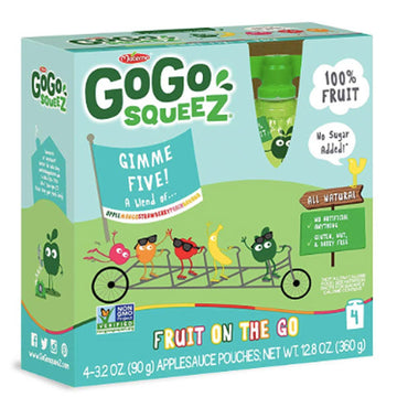 GoGo squeeZ Applesauce Gimme Five. 3.2oz, 4 Ct
