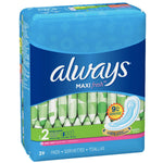 Always Maxi, Size 2, Super Pads Wingless, 39 Ct - Water Butlers