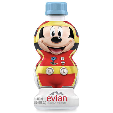 Evian Natural Spring Water Disney Mickey, 10.48 Fl Oz