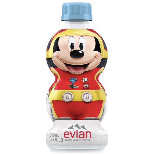 Evian Natural Spring Water Disney Mickey, 10.48 Fl Oz - Water Butlers