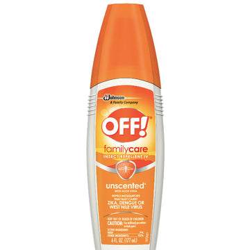OFF! FamilyCare Insect Repellent IV, Unscented, 6 oz