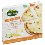 Monteli Cauliflower Thin Crust Pizza, Gluten Free, 4 Cheese, 12 oz - Water Butlers