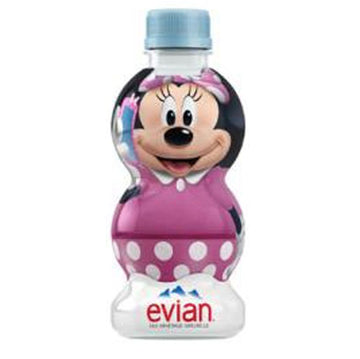 Evian Natural Spring Water Disney Minnie, 10.48 Fl Oz