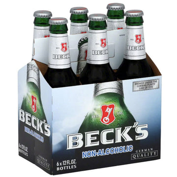 Beck's Non Alcoholic Beer, 12 fl oz Bottles, 6 Ct