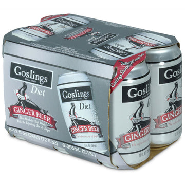 Goslings Diet Ginger Beer 12 fl oz Cans, 6 Ct