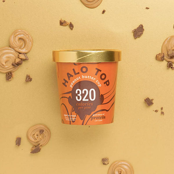 Halo Top Peanut Butter Cup Ice Cream, 1 pint - Water Butlers