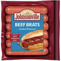 Johnsonville Smoked Beef Bratwurst, 12 oz - Water Butlers