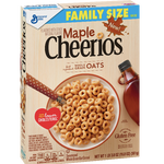 Maple Cheerios Cereal, Family Size, 19.8 oz - Water Butlers
