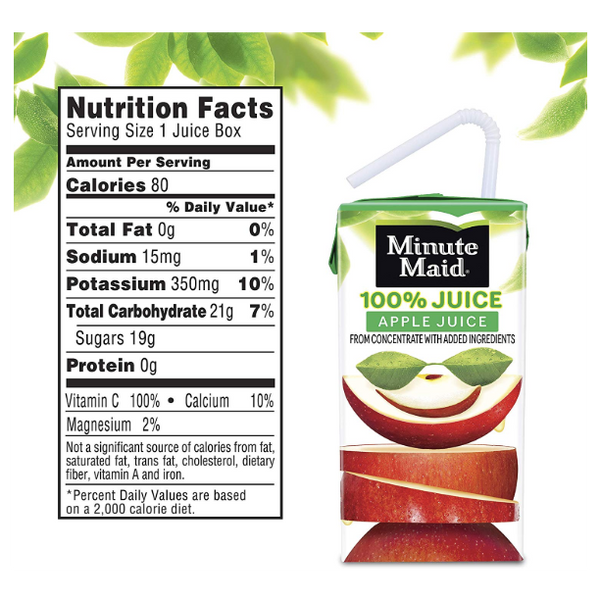 Minute Maid Apple Juice, 8 Count - Water Butlers