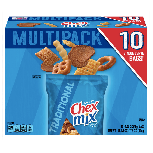 Chex Mix Multipack Traditional, 10 Count - Water Butlers