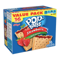 PopTarts Unfrosted Strawberry, 16 Ct