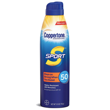 Coppertone Sunscreen Sport Adults Spray SPF 50