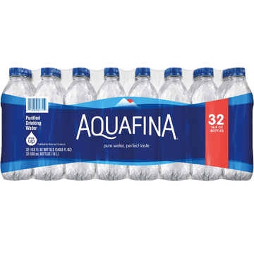 Aquafina Purified Water, 16.9oz bottles, 32 Ct