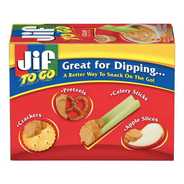 JIF To Go Creamy Peanut Butter, 8 Ct - Water Butlers