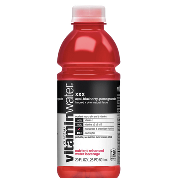 Vitaminwater Bottle, XXX Acai-Blueberry-Pomegranate, 20oz.