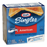 Kraft Singles American Cheese Slices, 16 Ct - Water Butlers