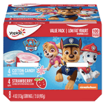 Yoplait Kids Yogurt Variety Pack, Paw Patrol Cotton Candy & Strawberry 8 Ct - Water Butlers