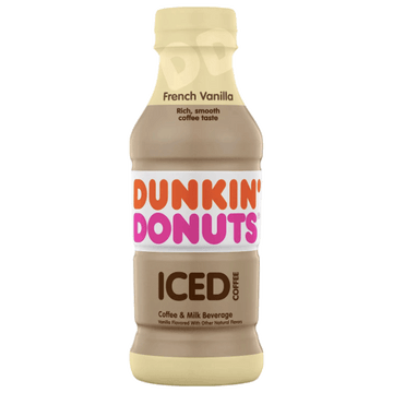 Dunkin' Donuts Iced Coffee, French Vanilla 13.7 fl