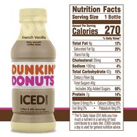 Dunkin' Donuts Iced Coffee, French Vanilla 13.7 fl - Water Butlers