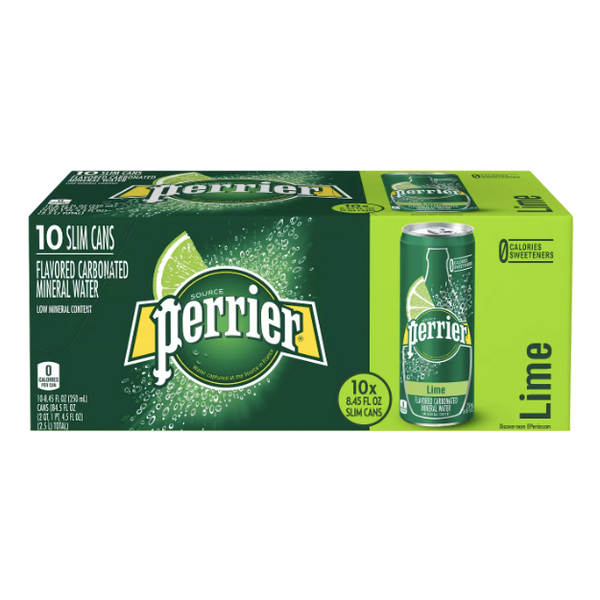 Perrier Lime Sparkling Water, 10 Ct - Water Butlers
