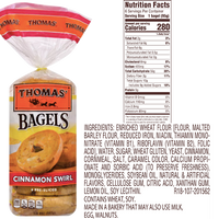 Thomas Bagels, Cinnamon Swirl - 6 Ct - Water Butlers