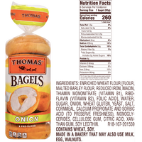 Thomas Bagels, Onion - 6 Ct - Water Butlers