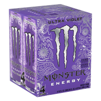 Monster Energy Ultra Violet, 4 Ct - Water Butlers