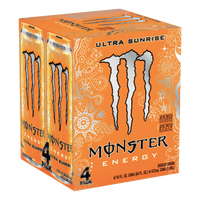 Monster Energy Ultra Sunrise, 4 Ct - Water Butlers