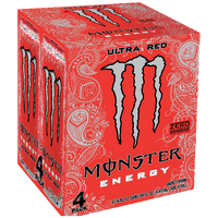 Monster Energy Ultra Red, 4 Ct - Water Butlers