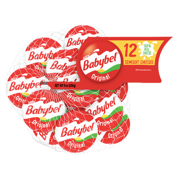 Mini Babybel Original Semisoft Cheese, 12 Ct