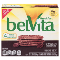 BelVita Breakfast Biscuits, Chocolate, 5 Ct - Water Butlers