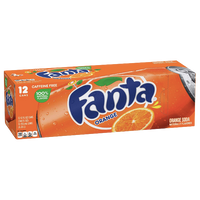 Fanta Cans Orange 12fl oz, 12 Ct - Water Butlers