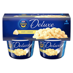 Kraft Mac & Cheese, Deluxe White Cheddar - 4Ct - Water Butlers