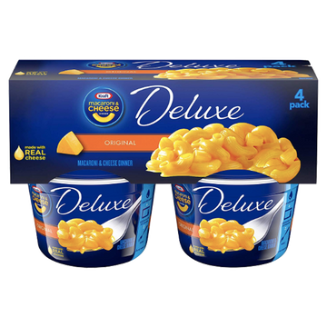 Kraft Mac & Cheese, Deluxe Original - 4Ct