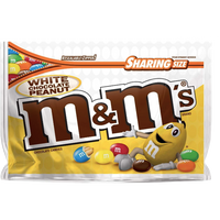 M&Ms Sharing Size, White Chocolate Peanut - 9.6oz - Water Butlers