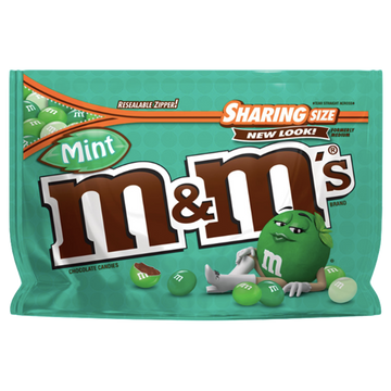 M&Ms Sharing Size, Crunchy Mint - 9.6oz