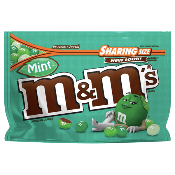 M&Ms Sharing Size, Crunchy Mint - 9.6oz - Water Butlers