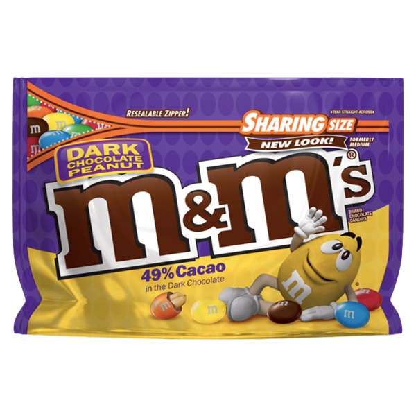 M&Ms Sharing Size, Dark Chocolate Peanut - 10.1oz - Water Butlers