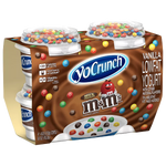 YoCrunch Low Fat Yogurt, M&Ms 4oz, 4ct - Water Butlers
