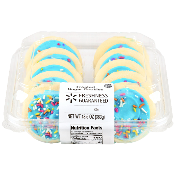 Blue Frosting Sugar Cookies, 13.5 oz 10 Ct - Water Butlers