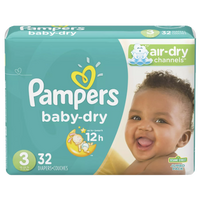 Pampers Baby Dry, Size 3 (32 Count) - Water Butlers